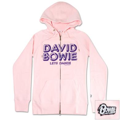 David Bowie Women's Pink Let's Dance Hoodie