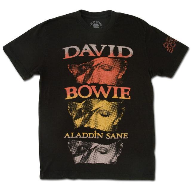 David Bowie Men's Lucky Brand Aladdin Sane T-Shirt