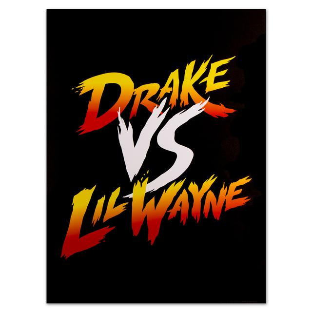 Drake vs. Lil Wayne Co-Branded Gradient Poster
