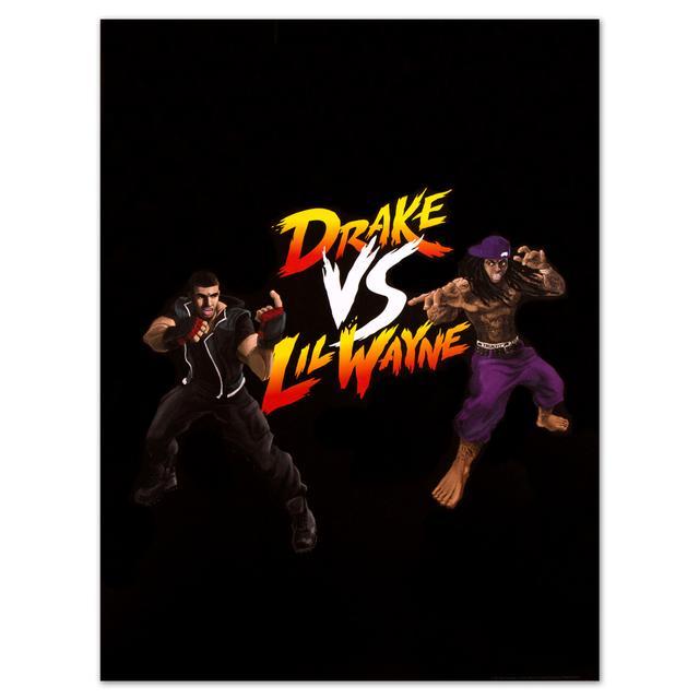 Drake vs. Lil Wayne Co-Branded Combat Poster