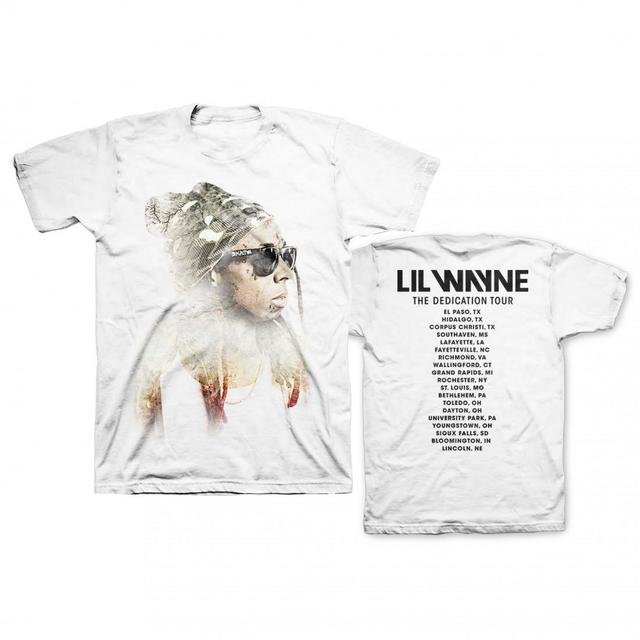 Lil Wayne Sketch Photo White Tour Tee