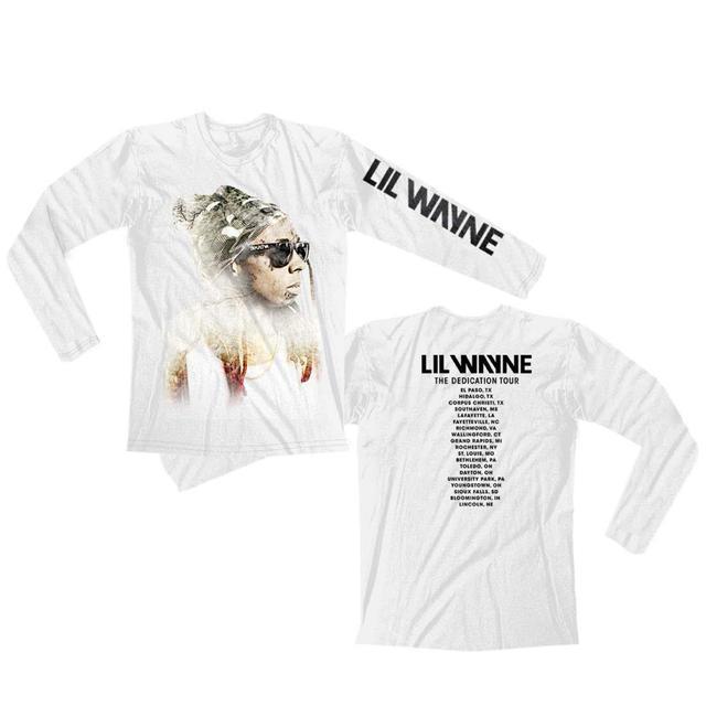 Lil Wayne Faded Weezy White Tour Longsleeve