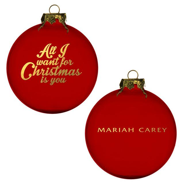 Mariah Carey All I Want For Christmas Red Ornament