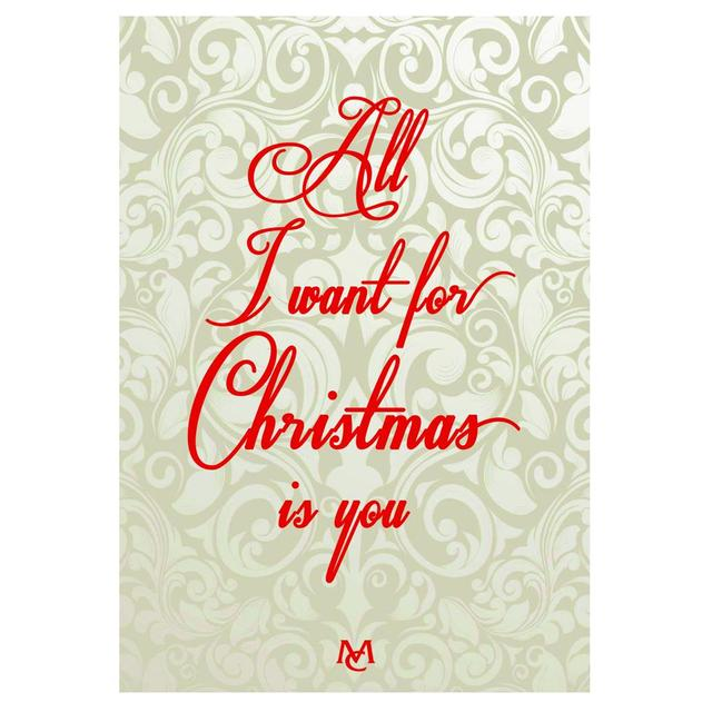 Mariah Carey All I Want For Christmas Is You Notecard