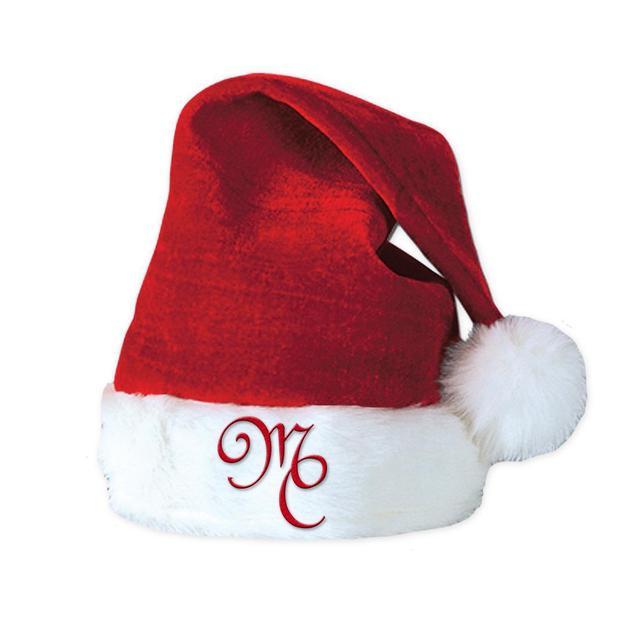 Mariah Carey Velvet Santa Hat