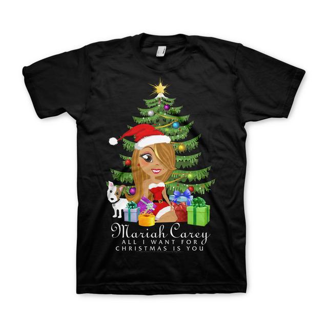 Mariah Carey Xmas Tree Cartoon T-Shirt