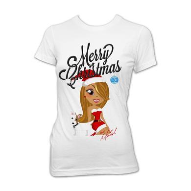 Mariah Carey Mimi Santa Cartoon Babydoll T-Shirt