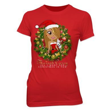Mariah Carey Mimi Wreath Cartoon Babydoll T-Shirt