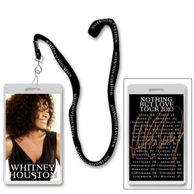 Whitney Houston Laminate and Lanyard