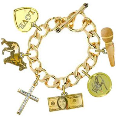 Whitney Houston Charm Bracelet