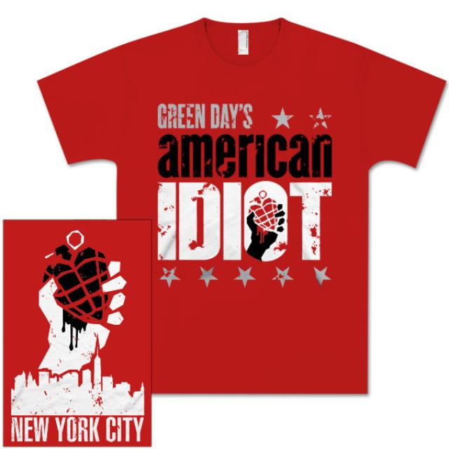 Green Day'S American Idiot The Musical American Idiot the Musical Red Logo T-Shirt