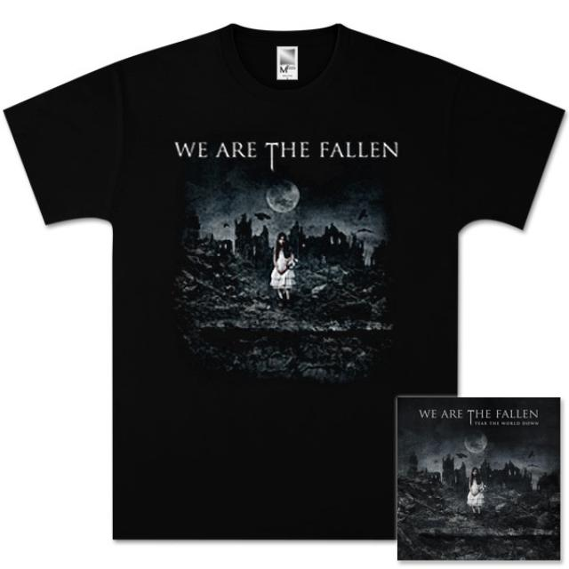 We Are The Fallen Tear The World Down CD / T-Shirt Bundle