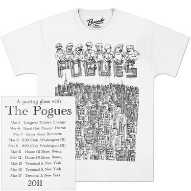 The Pogues NYC 2011 Tour T-Shirt