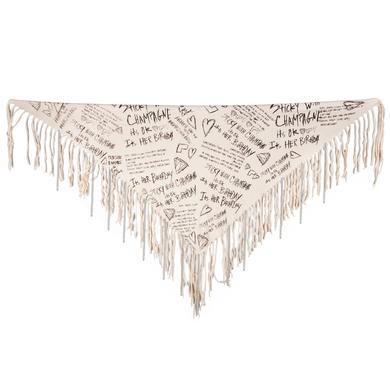 Semi Precious Weapons Lyrics Fringe Scarf with Chains