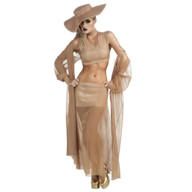 lady gaga gold grammy costume. Black Bedroom Furniture Sets. Home Design Ideas
