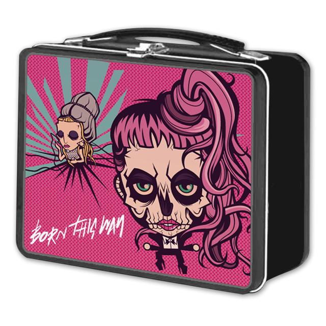 Lady Gaga Cartoon Lunch Box