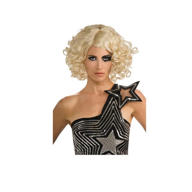 Lady Gaga Curly Blonde Wig