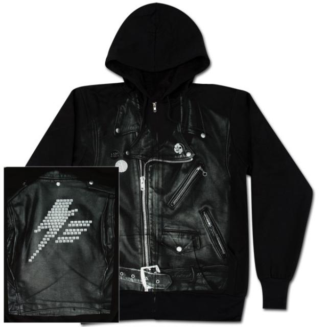 "Lady Gaga ""Leather Jacket"" Zip Hoodie"