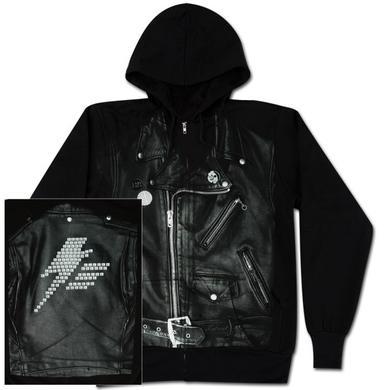 """Lady Gaga """"Leather Jacket"""" Zip Hoodie"""