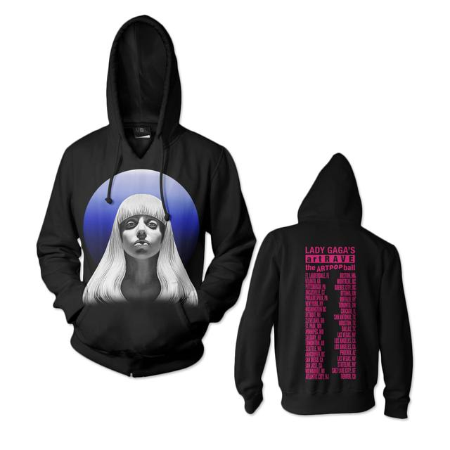 Lady Gaga Gazing Blue Ball Hoodie