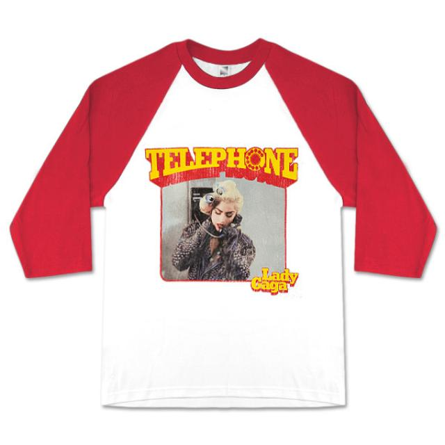 Lady Gaga Telephone Vintage Baseball T-Shirt