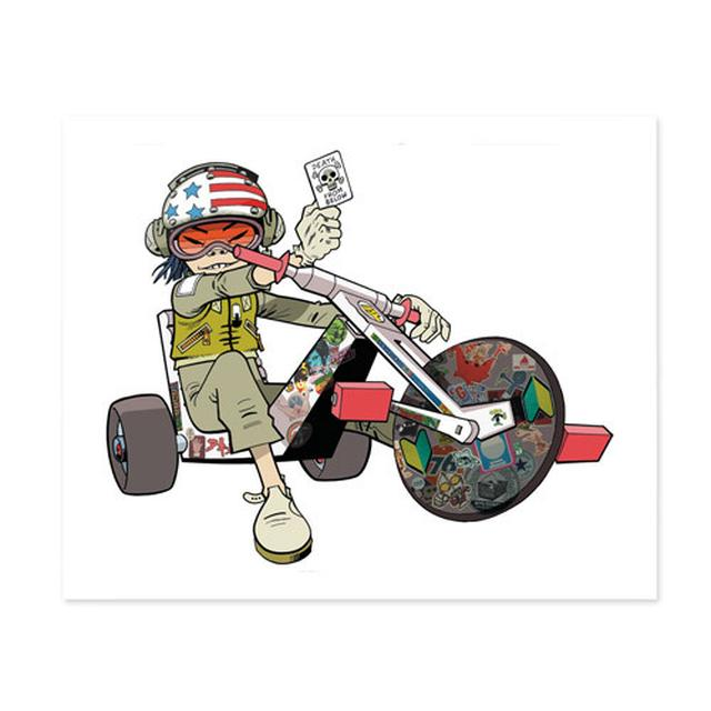 Gorillaz Exclusive - Noodle On Trike Lithograph