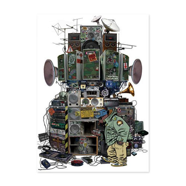 Exclusive - Gorillaz Russell's Hip Hop Machine Lithograph