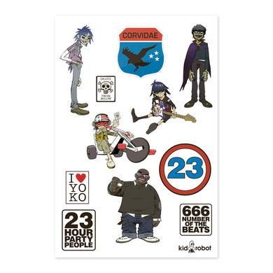 Gorillaz Death From Below Sticker Sheet