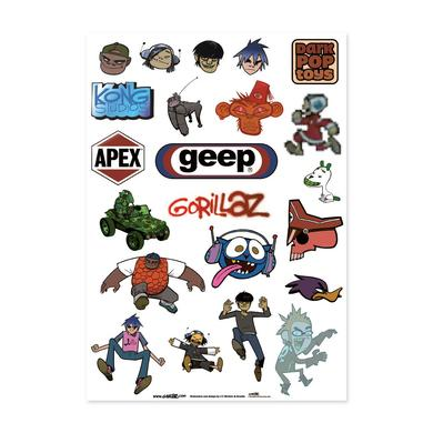 Gorillaz Sticker Sheet