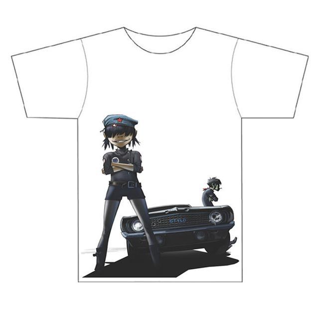 Gorillaz Stylo White T-Shirt