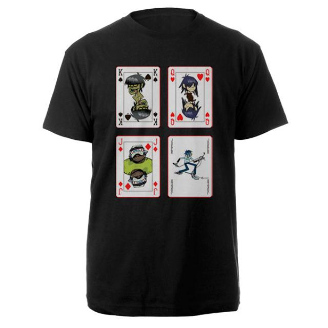 Gorillaz Cards Black Tee
