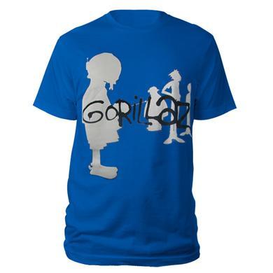Gorillaz Silhouette Blue T-Shirt
