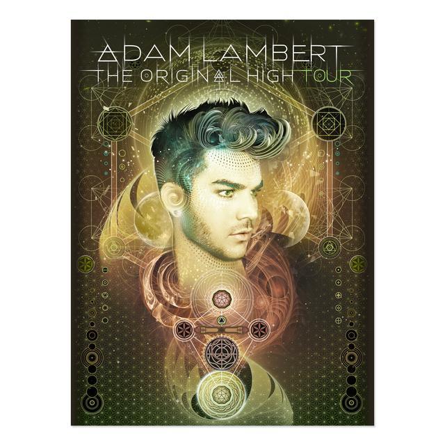 Adam Lambert ORIGINAL HIGH TOUR 3-D LENTICULAR POSTER