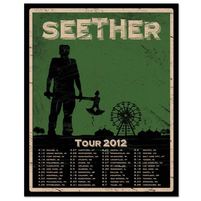 Seether 2012 Tour Poster