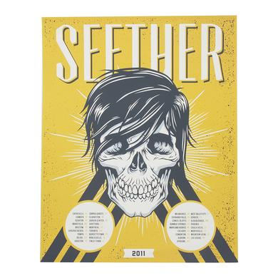 Seether 2011 Tour Poster