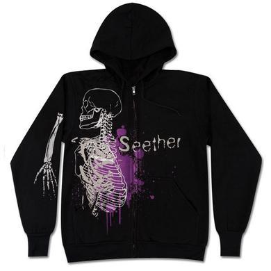 Seether Skeleton Splatter Hoodie