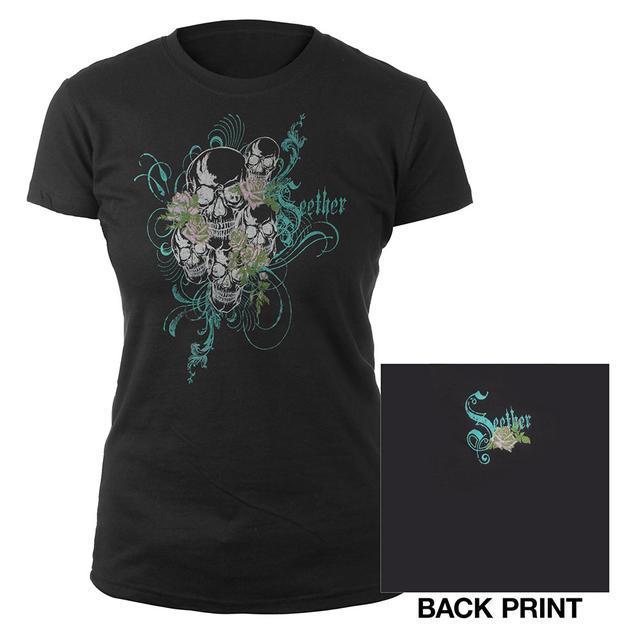 Seether Girls Skull T-Shirt