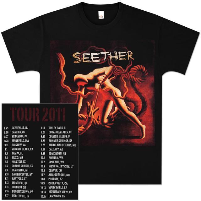 Seether Black Album Art Tour Tee