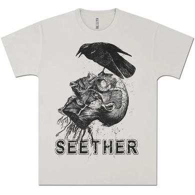 Seether Crow/Head Silver Tee