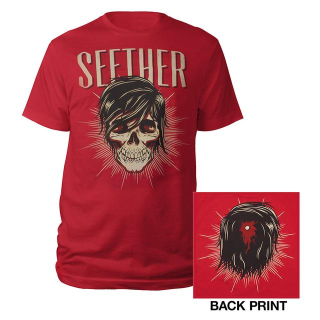Seether Ronlewhorn Skull Red T-Shirt