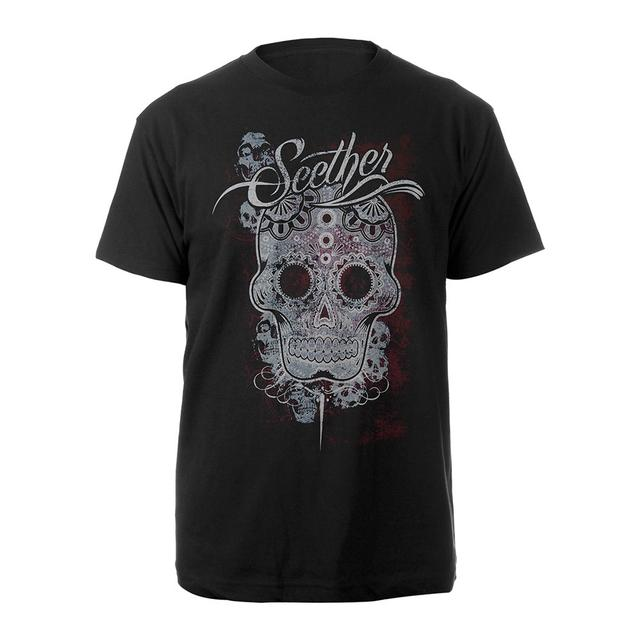 Seether Pattern Skull Tee