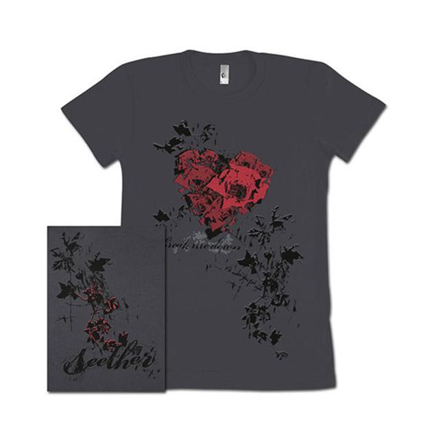 Seether Girls Rose Heart T-Shirt