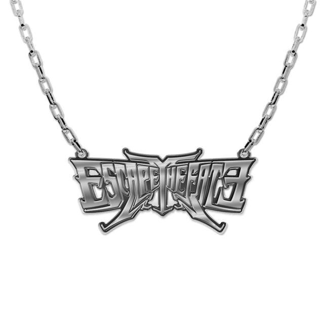 Escape the Fate Silver Logo Necklace