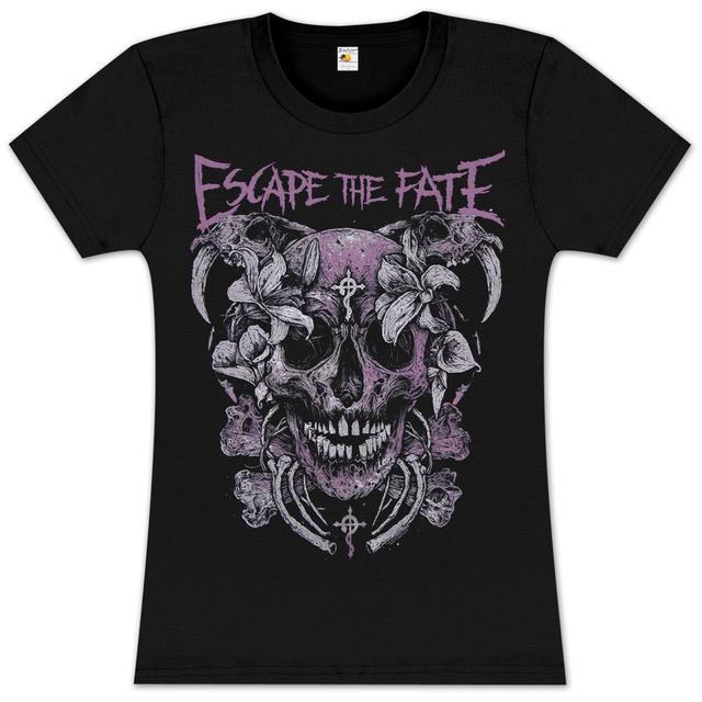 Escape the Fate Flower SkullJunior T Shirt