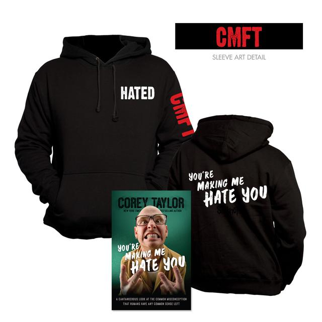 Corey Taylor You're Making Me Hate You Hoodie & Book Bundle