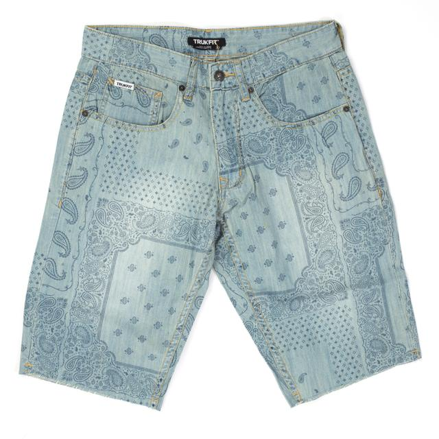 Trukfit Bandana Denim Shorts