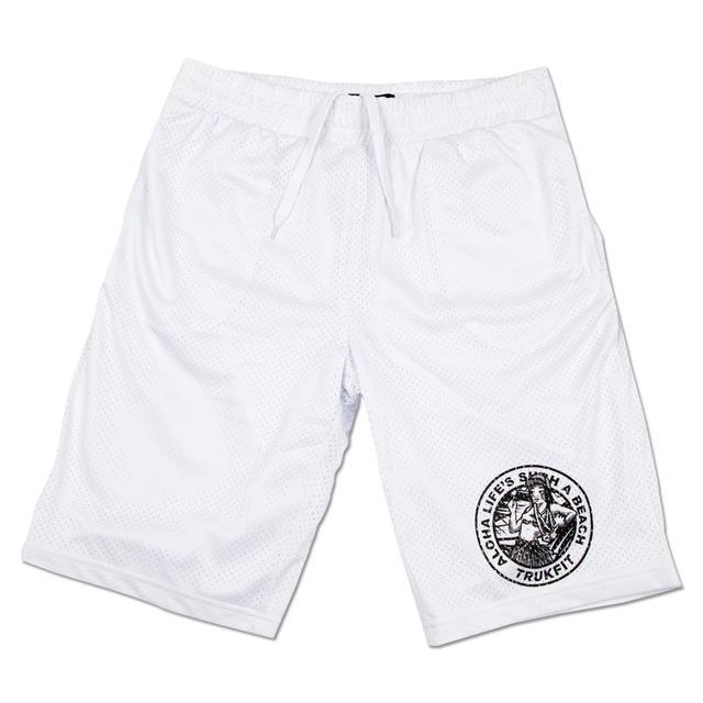 Trukfit White Mesh Shorts