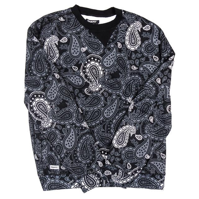Trukfit Large Paisley Crewneck Sweatshirt