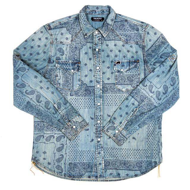 TRUKFIT Turkfit Long Sleeve Bandana Woven Shirt