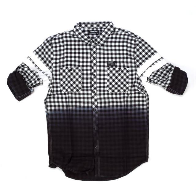 Trukfit Dip Dye Plaid Shirt